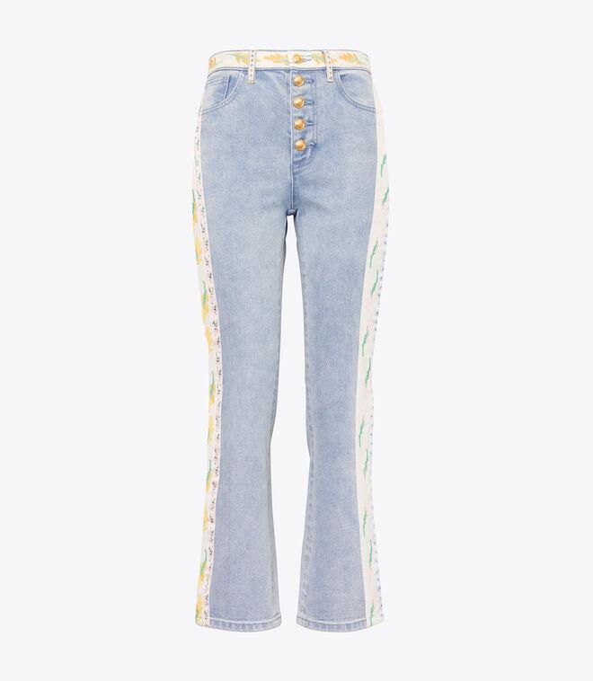 Ribbon Embellished Jeans