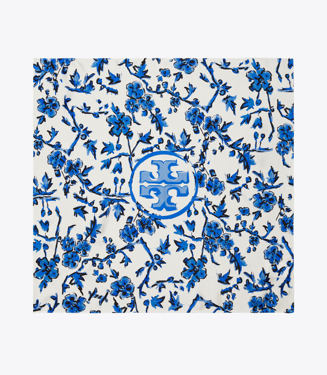 BLUE BRANCHES NECKERCHIEF