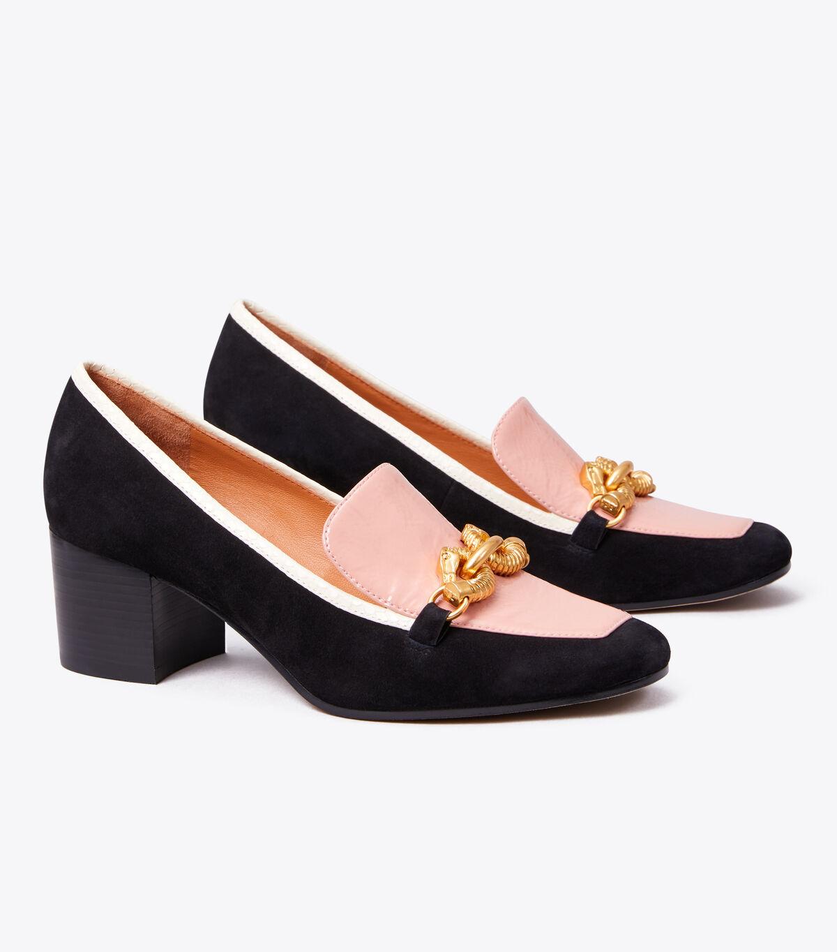حذاء بكعب متوسط جيسا جلد الغزال