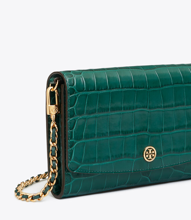 ROBINSON EMBOSSED CHAIN WALLET | 317 | Mini Bags