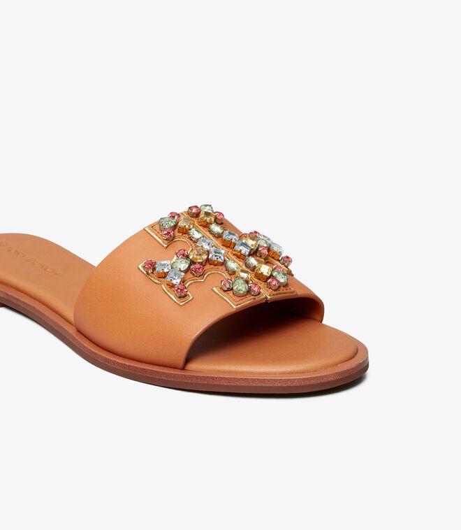 Ines Embellished Slide - C-Width
