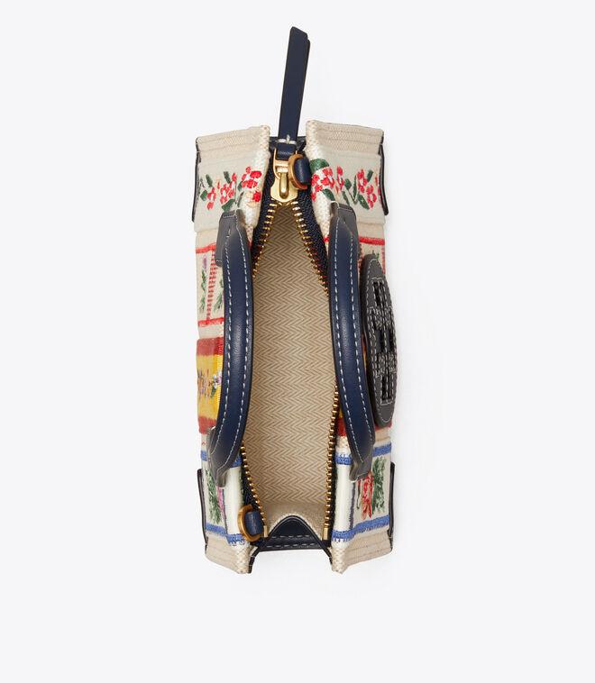 Ella Webbing Patchwork Micro Tote Bag