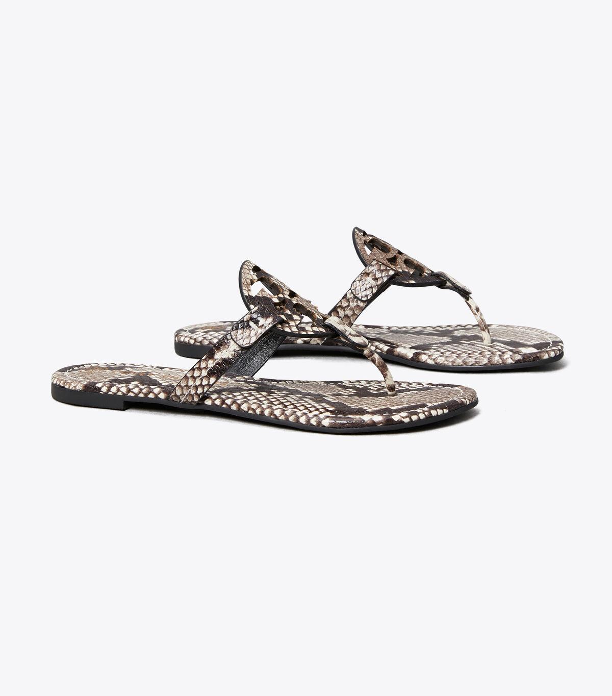 Miller Sandal, Embossed Leather