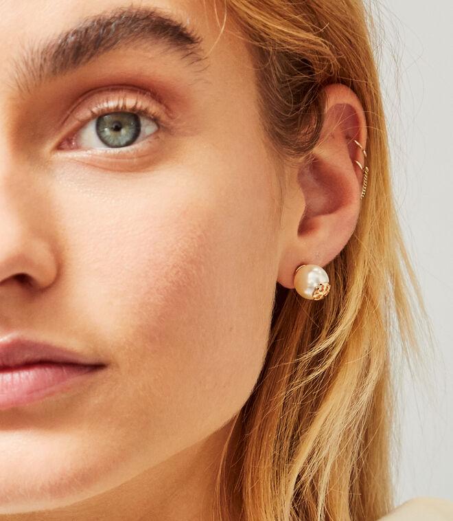 CRYSTAL PEARL STUD EARRING | 657 | Stud Earring