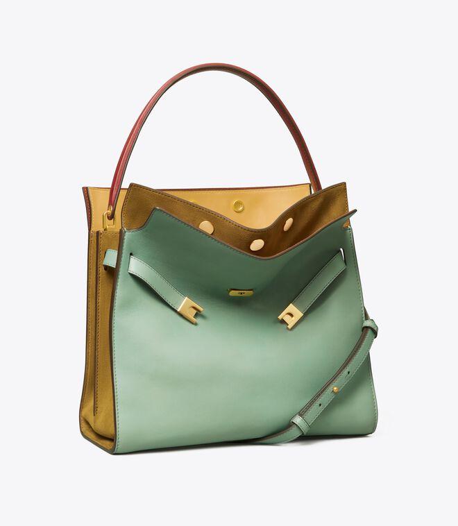 حقيبة T مونوغرام جاكار صغيرة بسحاب مزدوج