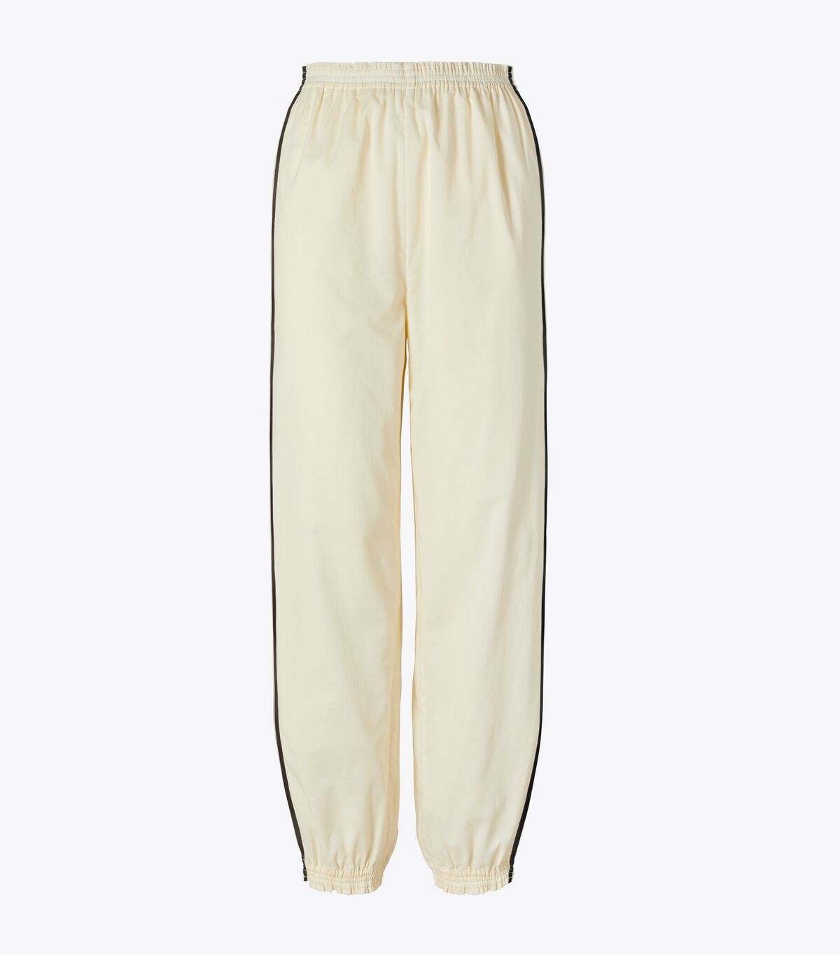 COTTON PULL UP CINCHED ANKLE PANT