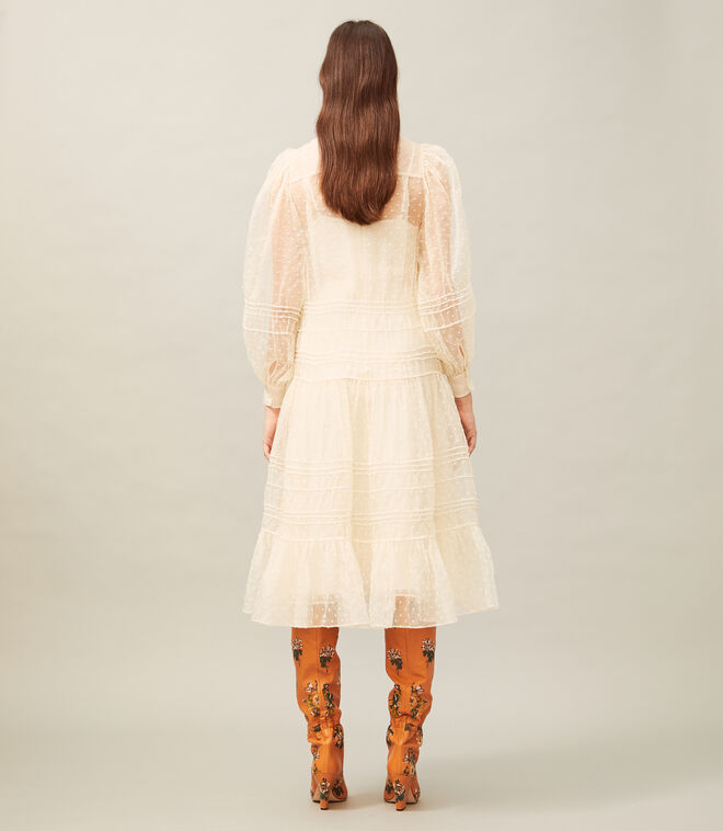 EMBROIDERED DOT DRESS