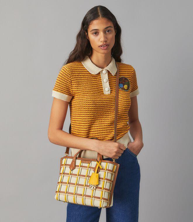 حقيبة حمل صغيرة ثلاثية الجيوب من قفص منسوج بيري