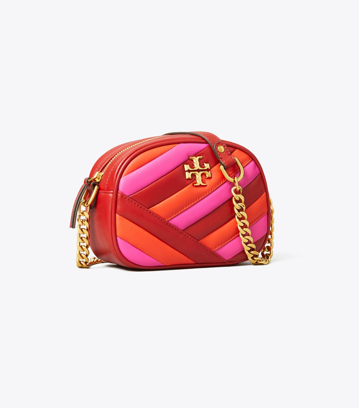 KIRA CHEVRON COLOR-BLOCK SMALL CAMERA BAG   620   Crossbody Bags