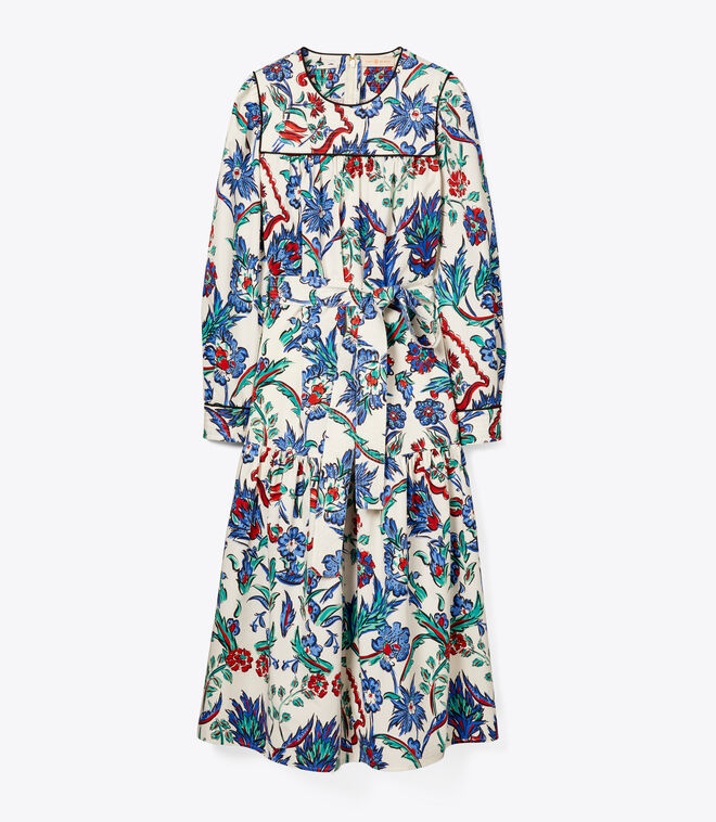 QUILTED YOKE DRESS