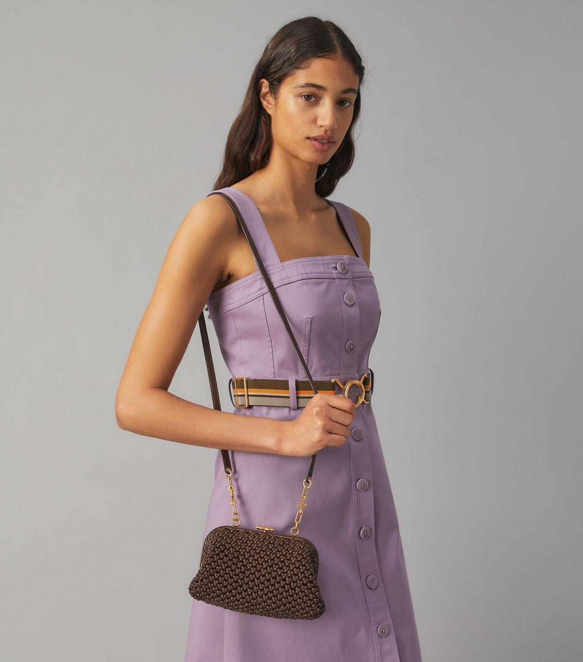 Cleo Macrame Woven Mini Bag