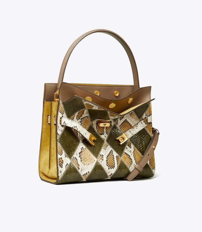 LEE RADZIWILL DIAMOND EXOTIC SMALL DOUBLE BAG