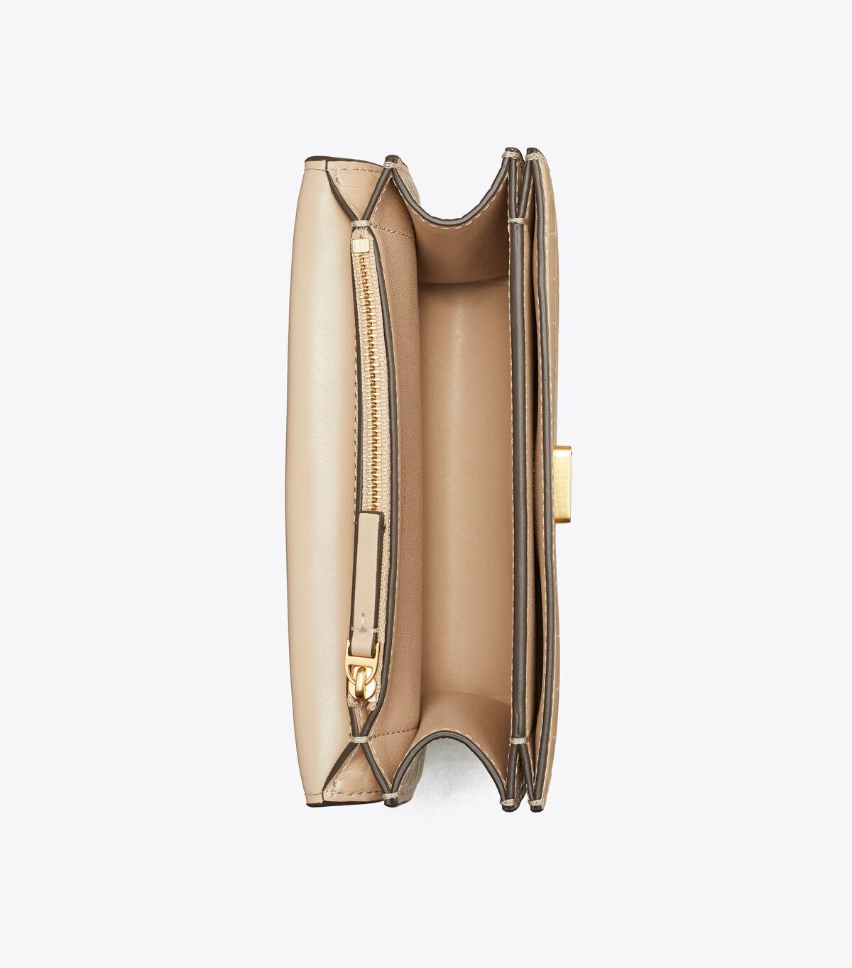 ELEANOR EMBOSSED SMALL CONVERTIBLE SHOULDER BAG