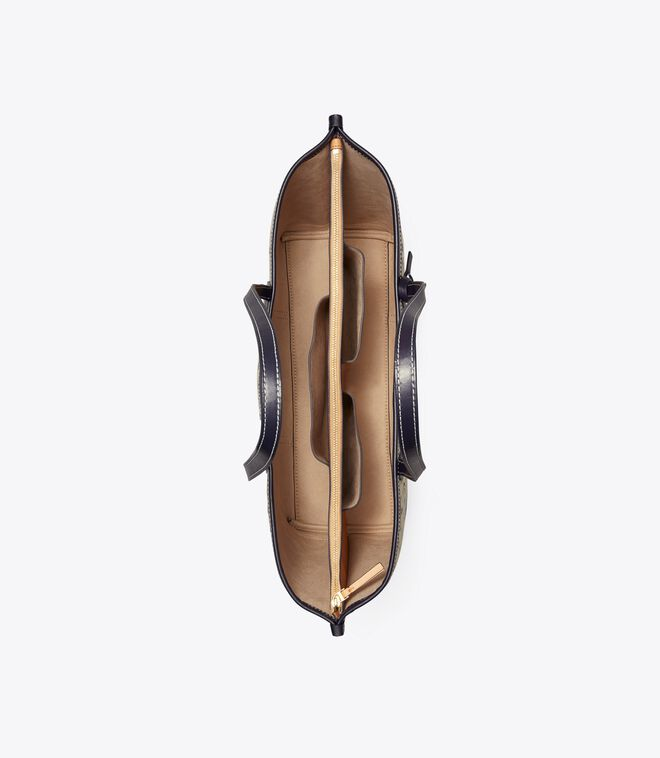 حقيبة يد بيري تي مونوغرام ثلاثية الجيوب