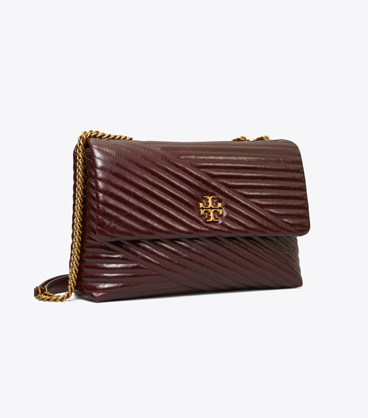 Kira Chevron Glazed Convertible Shoulder Bag