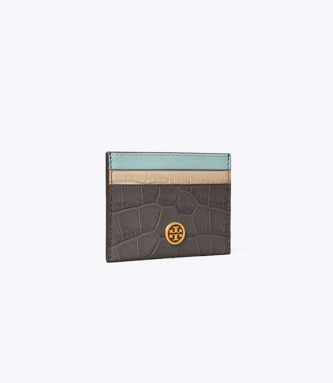 ROBINSON EMBOSSED COLOR-BLOCK CARD CASE