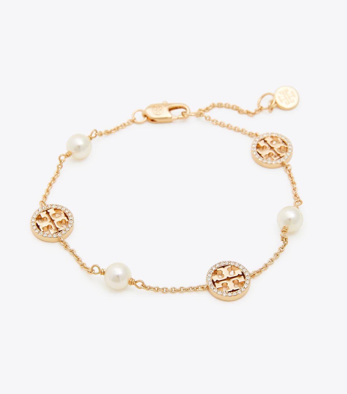 CRYSTAL PEARL LOGO BRACELET | 749 | Bracelets