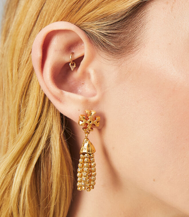 ROXANNE SMALL TASSEL EARRING