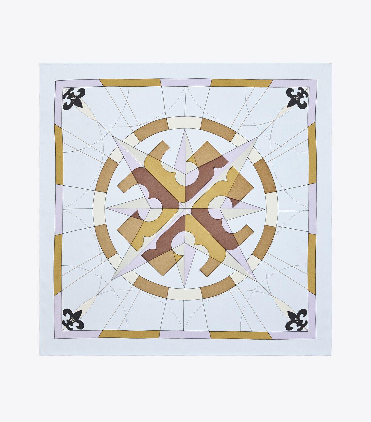 Compass Silk Neckerchief