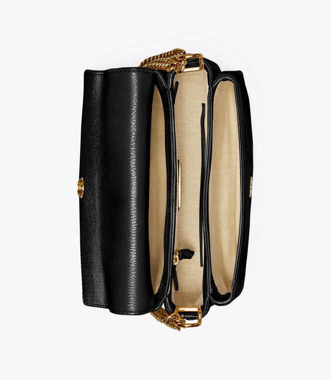 KIRA PEBBLED SMALL CONVERTIBLE SHOULDER BAG