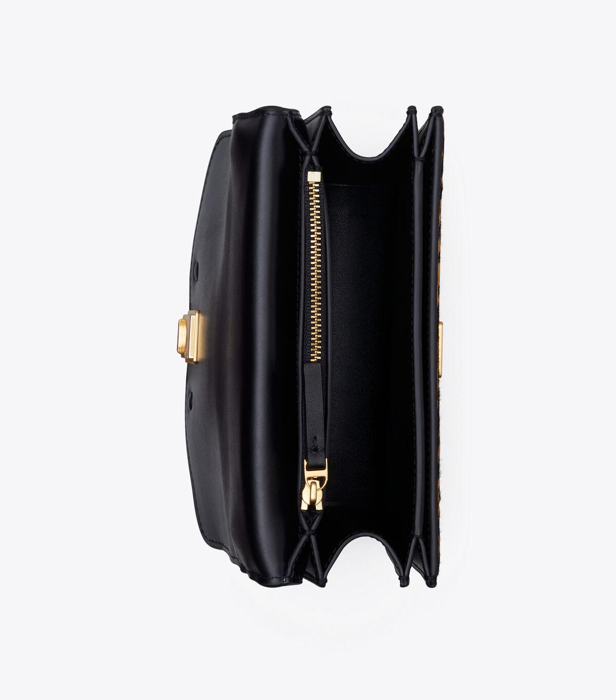 ELEANOR HAIRCALF SMALL CONVERTIBLE SHOULDER BAG