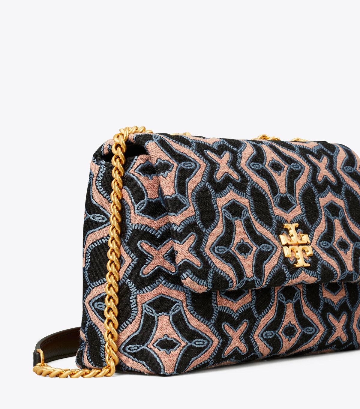 KIRA JACQUARD SMALL CONVERTIBLE SHOULDER BAG