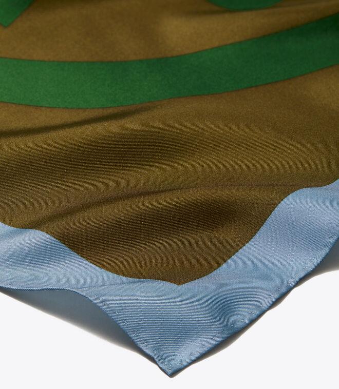 Color-Block Double T Silk Neckerchief