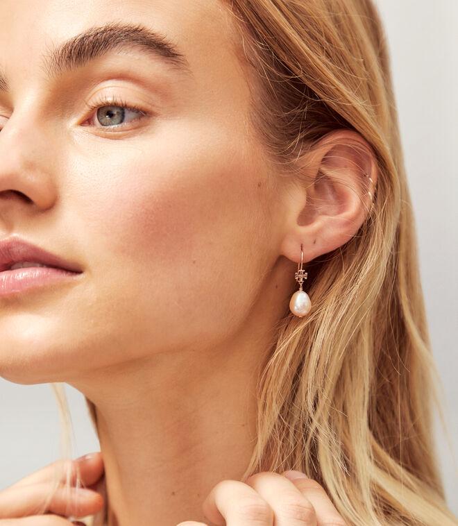 LOGO PEARL DROP EARRING | 022 | Drop Earring