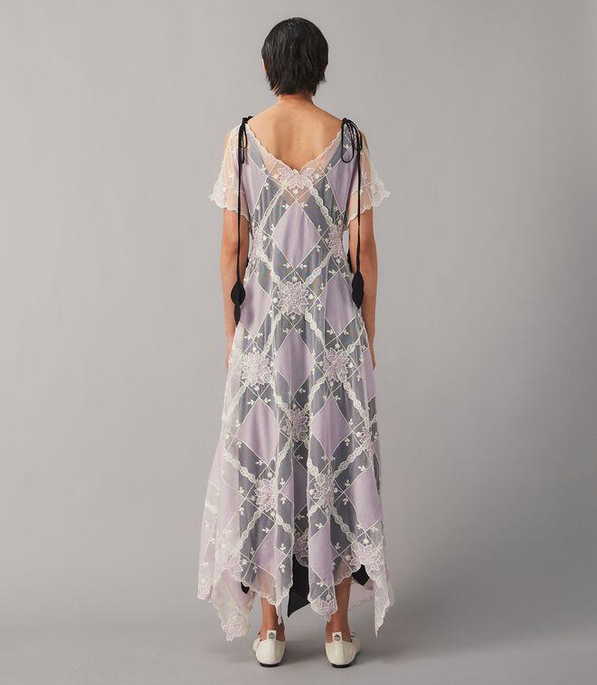 فستان وشاح مرقع