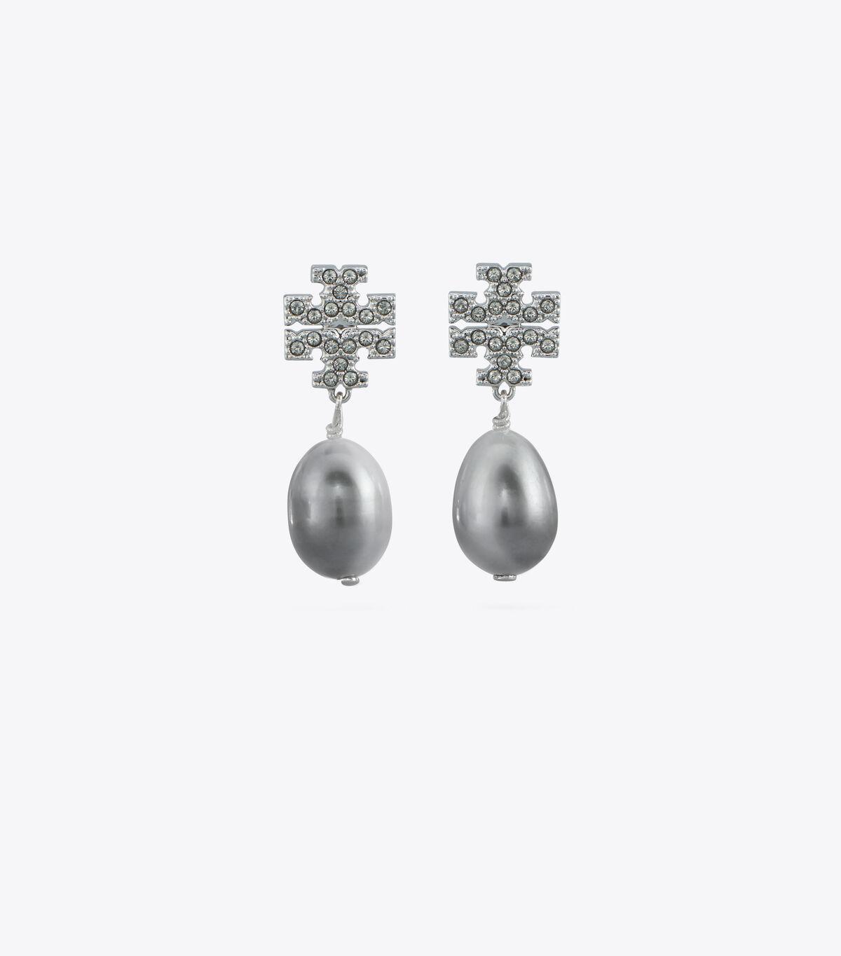 KIRA PAVE PEARL DROP EARRING | 056 | Drop Earring