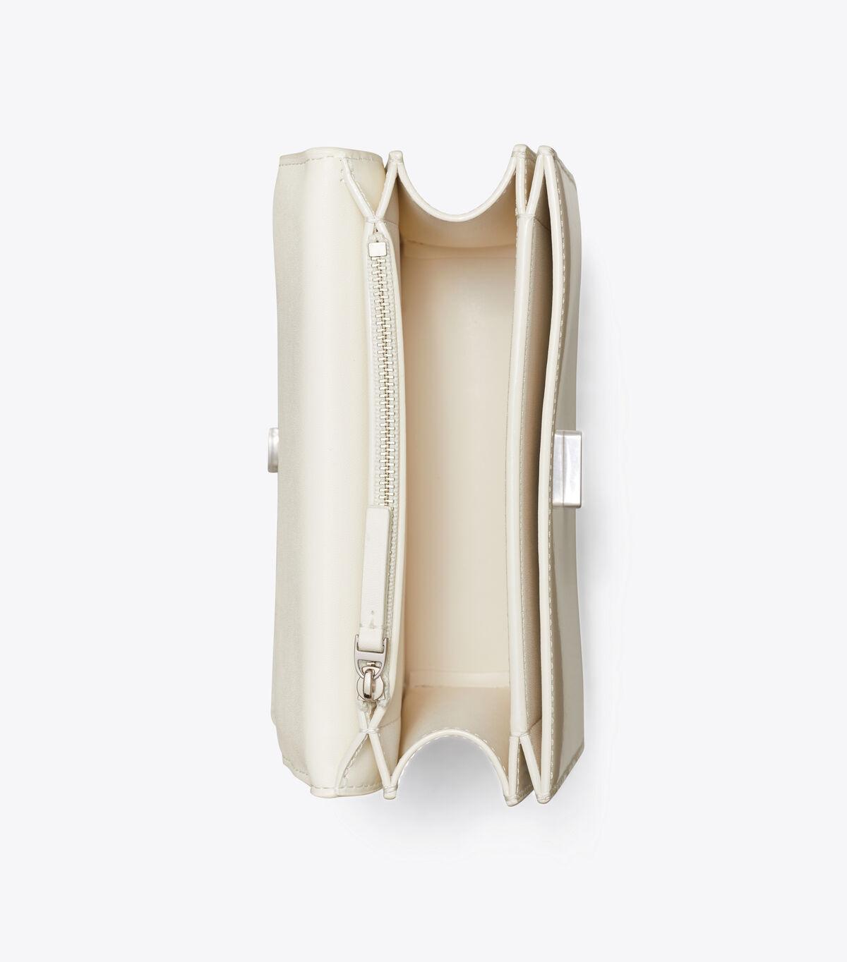 ELEANOR PATENT SMALL CONVERTIBLE SHOULDER BAG