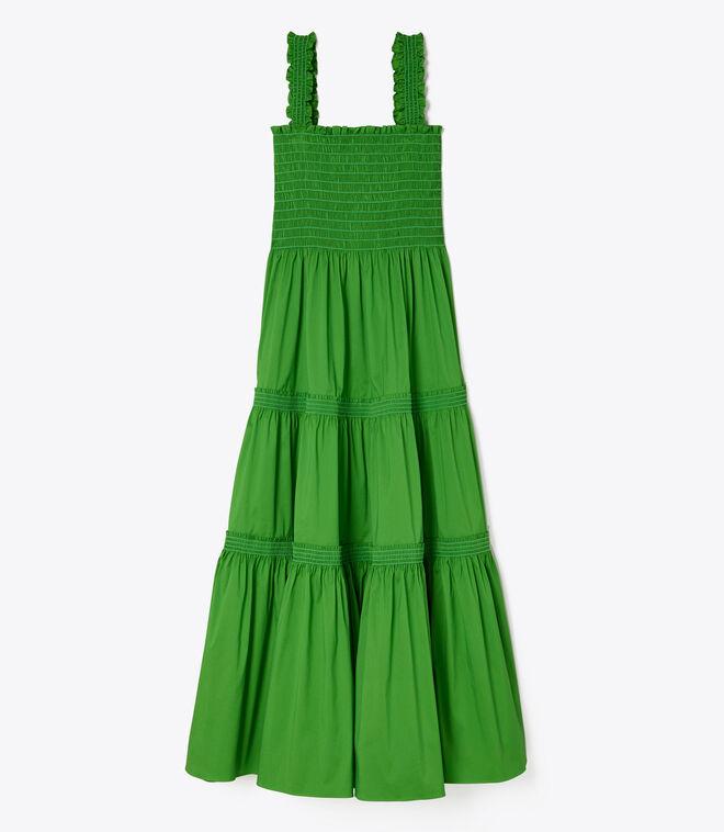 SMOCKED RUFFLE DRESS