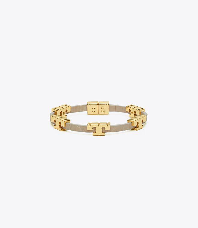 Serif-T Stackable Croc Embossed Bracelet