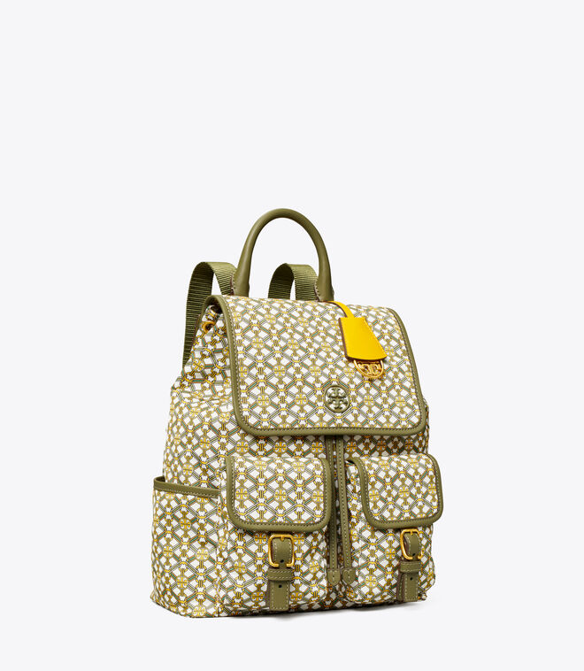 PIPER PRINTED FLAP BACKPACK