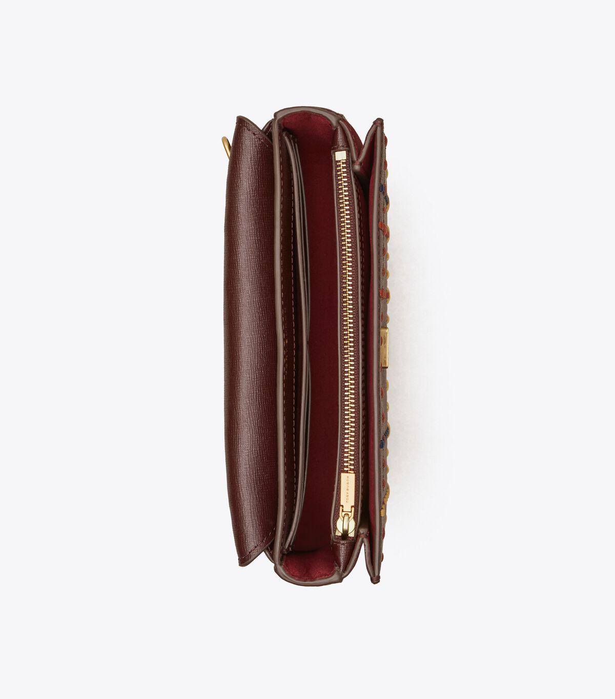 Robinson Woven Plaid Chain Wallet