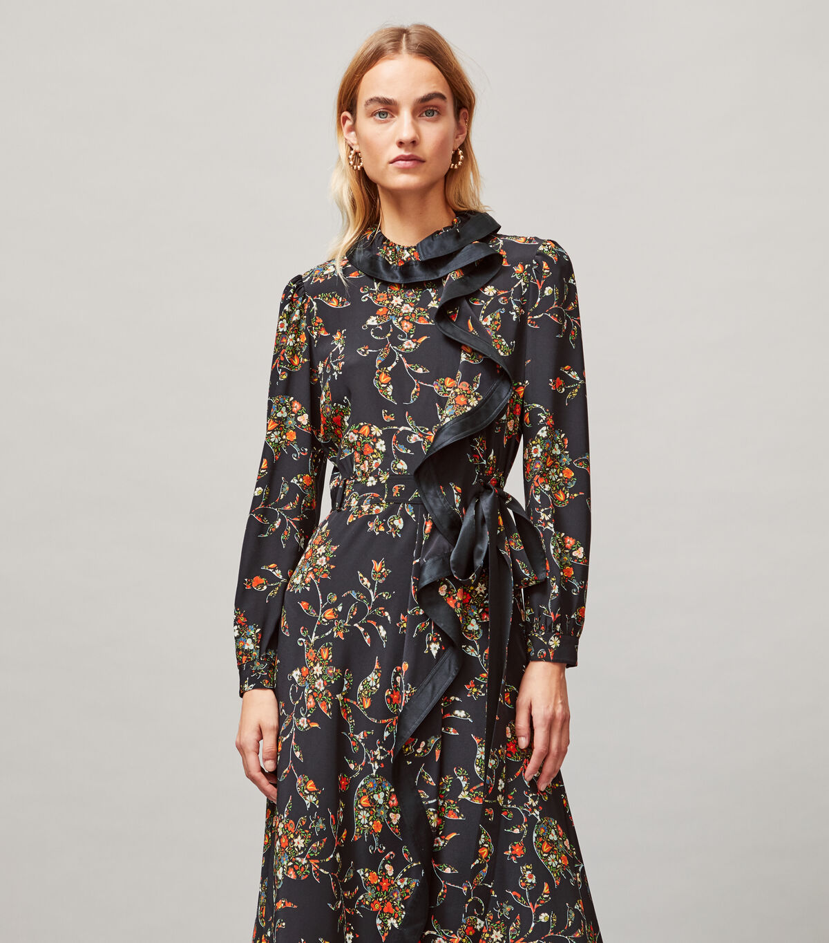 Printed Ruffle Wrap Dress | 016 | Wrap Dresses