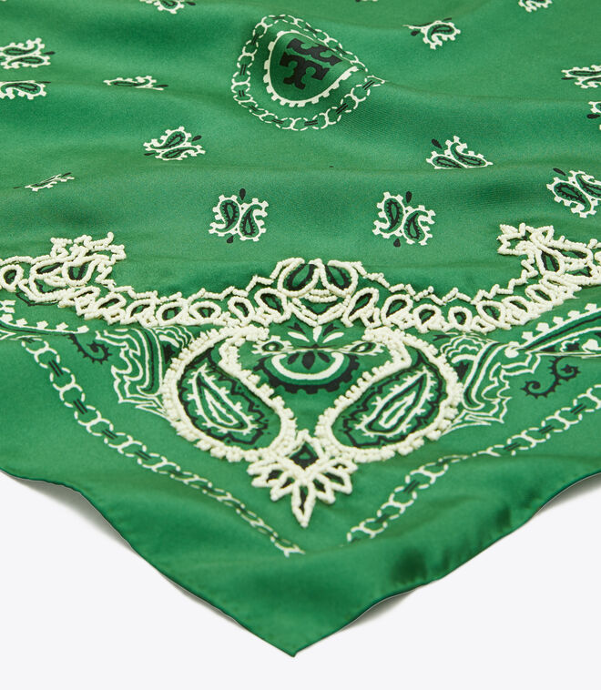 Embroidered Bandana Neckerchief